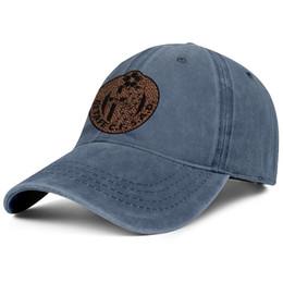 Tapa plana de leopardo online-Getafe Club de Fútbol S.A.D. Azulones El Geta Leopard azul Hombres Mujeres Denim hat wash Gorras planas ajustables diseñador de moda Six Panel Dad ha