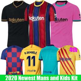 2019 ko 2019 2020 FC Barcelona Fußball-Trikots 10 Messi 21 F.DE JONG 17 Griezmann 11 O.DEMBELE Player in Version Men + Kids Kit Set Uniform Jersey