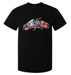opere d'arte del motociclo Sconti Maglietta disponibile di Kill La Kill Akira Motorcycle disponibile maglietta nera delle donne Unisex Fashion Tshirt Trasporto libero