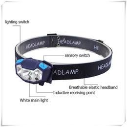 usb recarregável impermeável mini led lanterna Desconto Faróis Mini USB Recarregável LED Head Lamp Sensor de LED À Prova D 'Água Cabeça Lâmpada de Luz Lanterna de Acampamento Ao Ar Livre