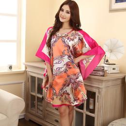 2019 vestidos chineses impressos Venda quente de verão moda senhora robe das mulheres chinesas banho de rayon vestido yukata camisola novidade impressão noite dress one size desconto vestidos chineses impressos