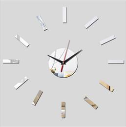Reloj de pared Originalidad Reloj de pared Espejo tallarines Originalidad Personalidad Relojes concisos y relojes Segundo La decoración desde fabricantes