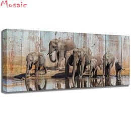 pintura abstracta del elefante Rebajas Diamante mosaico abstracto pintura al por mayor en lienzo pintura diamante 3d kit de punto de cruz bordado de diamantes foto Craft regalo