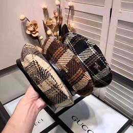 boina de los hombres de moda Rebajas boinas de alta calidad para invierno y otoño diseñadores de moda elegantes sombreros para hombres y mujeres 2019