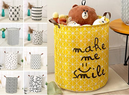 baskets for clothes storage Coupons - 28 styles foldable storage bucket oversized stotage basket for children's toy top waterproof bathroom dirty clothes laundry storage box