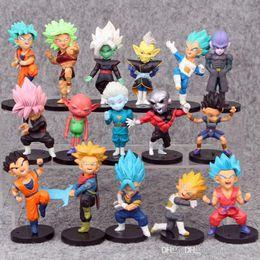 2019 nuovi giocattoli congelati 16 Stili New Dragon Ball Z DBZ Kuririn Vegeta Trunks Congelare Son Goku SON Gohan Piccolo Freezer Beerus modello Figure Giocattoli B001 nuovi giocattoli congelati economici
