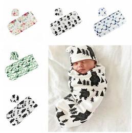 2019 algodón sombrero niños Manta recién nacido con sombreros bebé algodón  orgánico Swaddle cochecito impresión del 2496768b5d2
