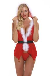venda RST Sexy Roupa interior quente para de 2019 natal Mulheres Sexy Set para a mulher cosplay Papai Noel e transporte rápido de