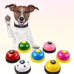 small bells toys Promo Codes - Dog Ring Bell Dog Training Paw Dog Pet Dogs Training Bell Pets Intelligence Toys Black Red Drop Ship 360059