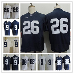 a3a5d1eef Cheap Men s Penn State Nittany College Football Jerseys 26 Barkley 9 Trace  McSorley 88 Gesicki 2 Marcus Allen Navy White Stitched PSU Shirts