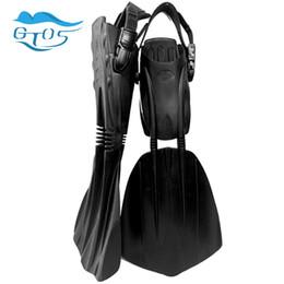 Mergulho Profissional barbatanas de mergulho aberto calcanhar alças ajustáveis longas barbatanas equipamentos de barbatanas de mergulho livre para homens mulheres de