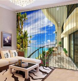 2019 weiße schmetterlingsvorhänge vorhänge 3d anpassen 3d stereoskopischen vorhang für wohnzimmer Blauer Himmel, weiße Wolken, verdunkeln Fenstervorhänge