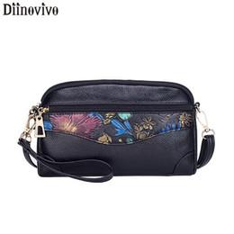 bolso de embrague en forma de concha Rebajas DIINOVIVO Apliques Diseño Embrague Bolsas para Mujer Nueva Forma de Shell Hombro Bandolera Bolsa de cuero de las mujeres Bolsas de mensajero WHDV1173