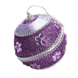 ball candle colorful Promo Codes - 1PC Colorful Rhinestone Glitter Christmas Balls Ornament Hanging Bauble Decoration For Christmas Party Xmas Tree Decoration#40py