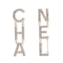 Bijoux en diamant design en Ligne-2019 nouveau designer boucles d'oreilles designer de luxe bijoux de designer de luxe femmes boucles d'oreilles diamant boucles d'oreilles en alliage strass dames