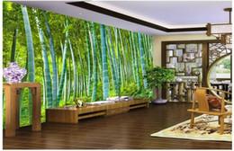 2019 camere da parete dipinte di bambù WDBH 3d carta da parati foto personalizzata HD Bamboo Landscape Pittura sfondo soggiorno Home decor 3d murales carta da parati per pareti 3 d sconti camere da parete dipinte di bambù