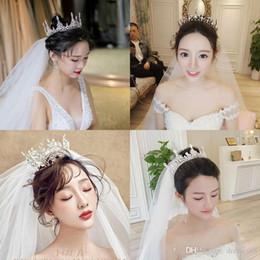 corone di tiaras da sposa reale Sconti 2019 New Luxury Bridal Crown Rhinestone Cristalli Royal Wedding Crowns Princess Crystal Accessori per capelli Festa di compleanno Diademi Quinceaner Swe