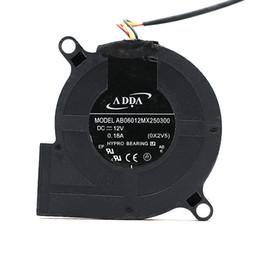 Refrigeração adda original on-line-Atacado Original ADDA AB06012MX250300 60x60x25mm 12 V 0.18A Projetor Ventilador De Refrigeração Ventilador Turbo Fan