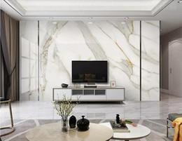 2019 luxus wandmalerei Weißer Bauch Marmor Tapete 3D Jazz Weiß Wandbild für TV Hintergrund Wanddekor Luxus Wandbilder Foto Gedruckt Papiere günstig luxus wandmalerei