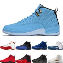 2019 Sıcak Satış 12 12 S Basketbol Ayakkabı UNC FIBA Oyunu Kraliyet Grip Oyunu Derin Kraliyet Mavi o-siyah usta Moda Erkek Spor Sneakers cheap sport shoes sale usa nereden spor ayakkabı satışı usa tedarikçiler