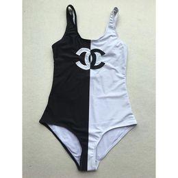 Sexy black one piece bodysuit on-line-Luxo F Letra Marca Preto Marrom Biquíni Swimwear para Mulheres Sexy Maiô Bodysuit Beachwear Verão one piece Sexy Lady Swimsuit