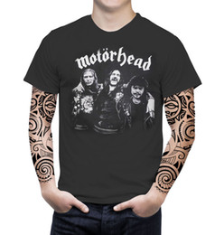 classic rock shirts Promo Codes - Motorhead VTG Retro Graphic Men T-Shirt English Hard Heavy Metal Rock Music Band Brand shirts jeans Print Classic Quality High t-shirt