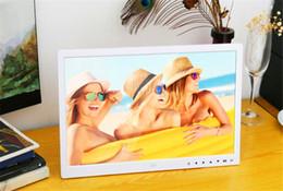 2019 manuel de carte sd Gros cadre photo numérique 15 pouces écran tactile bouton image électronique Porta Retrato Marco De Fotos numérique MP3 Salon chambre