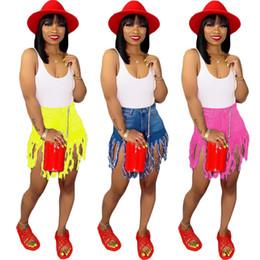 Neue Art und Weise Jeans-Art und Weise Tassel Pocket Button shorts bodycon Leggings Zipper Fly Denim solide Midweight Sommerkleidung plus Größe 327 von Fabrikanten