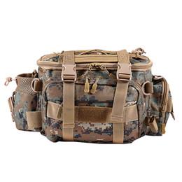 großhandel stahlfallen Rabatt Angeltasche Wasserdichte Outdoor Single Schulter Angeln Hüfttasche Tasche Lure Reel Tackle Pesca Lagerung