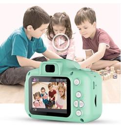 tf led écran Promotion Le dernier appareil photo pour enfants Mini appareil photo numérique 2inch Cartoon caméra jouet mignon enfants le meilleur cadeau 1080P DH enfant en bas âge