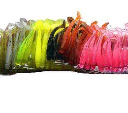 большие приманки соленой воды Скидка Proleurre 10pcs/lot 50mm 0.7g Soft Rubber Bait Fishing Lure Jig Wobbler Soft Worm Carp Fishing Bait Artificial Silicone Swimbait