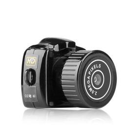 cámaras de seguridad audio video Rebajas 2019 Mini Cámara HD Video Audio Grabadora Webcam Y2000 Videocámara DV Pequeña DVR Secreto de Seguridad Niñera Coche Deporte Micro Cam con Mic STY160