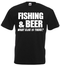 8b9ee4ab funny fish t shirts Promo Codes - Fishing And Beer What Else Is There Funny  T