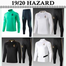 2019 chaqueta de ozil 19 20 PELIGRO traje de entrenamiento de fútbol camisetas del Real Madrid SERGIIO RAMOS KROOS para hombre del chándal kit de fútbol Camisas Pantalones BENZEMA MARCELO ISCO