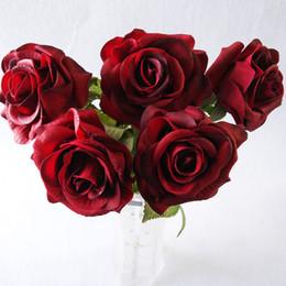 12 Pcs Real Touch Rose Fleurs Artificielles Roses Ouvrez L'humidité Faux Unique Rose Naturel À La Recherche Rose Fleurs 15 Couleurs pour La Fleur De Mariage ? partir de fabricateur