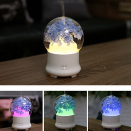ball shape lamp Coupons - 7Colors USB Ultrasonic Air Humidifier Colorful Night Light Essential Oil Aroma Diffuser Lamp Round Ball Shape with Inner Landscape RRA2827-4