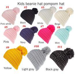 Bonnets Enfants Pompons Chapeaux Tricotés Bonnet De Mode gorro Filles Femmes Hiver Chaud Chapeau Tissage Bonnets Chapeau 11 Couleurs ? partir de fabricateur