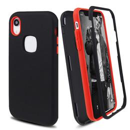 Canada Coque pour téléphone hybride Defender, Finition mate 3 en 1 pour iPhone XR XS MAX 8 7 6 Plus Samsung S9 Plus Note 9 cheap iphone defender cases Offre