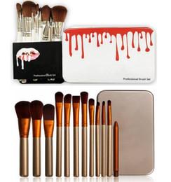 2019 make-up pinsel set 12 stück Auf Lager Make-up Pinsel 12 Stück Profi Make-up Pinsel Set Kit mit Eisenbox Make-up Pinsel ePacket Versand günstig make-up pinsel set 12 stück