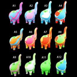 2019 aceite de elefante patrón de elefante mini bubbler Tubos de agua Múltiples colores Plataformas de aceite de silicona bong Cachimbas Tazón de vidrio gratis