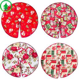 Decoraciones navideñas Falda de árbol Impresión de dibujos animados Decoración Arboles Vestido de Santa Claus Cabeza Flores Patrón Faldas Nueva llegada 12 5xb L1 desde fabricantes