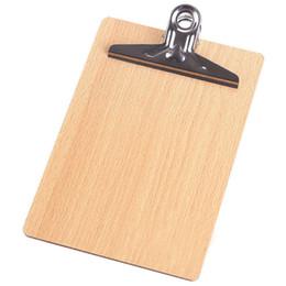 Cartella di file A4 in legno Cartella stazionaria Cartone rigido Cartella per scrittura Cartella per documenti Cartella cartella Cartella appunti Offic cheap clip board folder da cartella di bordo della clip fornitori
