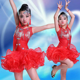 mädchen latin röcke Rabatt 2019 neue Kinder Latin Dance Rock Mädchen Kinder Kostüme Sommer zeigen Praxis Kleidung Latin Dance Kleidung