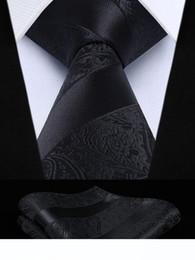 """Silk Mens Wedding extra longas Laço XL gravata Handkerchief Set # Festa clássico Praça bolso Q6 floral do casamento 3,4"""" de"""