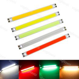 lampara led cuentas blanco frio Rebajas Cuentas de luz 10W de luz LED Strip 120MM * 10MM COB Blanco frío Blanco cálido Blanco Rojo Luces Lámparas Tiras de bricolaje 12V Trabajo COB Light Bar EUB