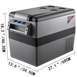 Nevera portátil de coche online-MATERIAL Compresor Refrigerador portátil pequeño Refrigerador Congelador Hogar y automóvil Refrigerador vehicular 45L
