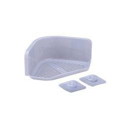 Canada Rangement d'angle étagère de douche organisateur pour cuisine salle de bain maison fournitures de salle de bain multi couleur plastiques sans soudure adhésif supplier kitchen storage racks shelves Offre