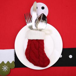2019 xmas gadgets Feliz Natal Knitting Socks Árvore de Natal Jantar Tabela Decorações Hanging presentes Xmas Party Ornamento crianças Gadgets desconto xmas gadgets