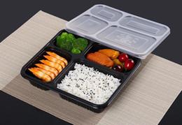 Spedizione gratuita 4 scomparti per alimenti PP portare via scatole di imballaggio alimentare di alta qualità scatola bento monouso per Hotel SN2296 da