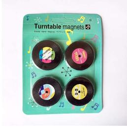 2019 aimants super forts n52 4 Pcs / Set Retro Platine Vinyle Magnet Cassette Cassette Réfrigérateur Magnétique Message Dossier Drôle Enfants Jouet